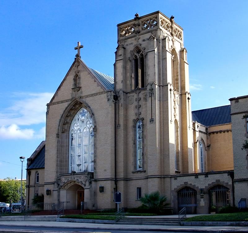 Exterior of St. Johns Church in San Antonio, TX
